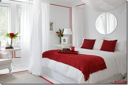 White Red Bedroom Design Flickr