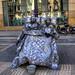 Estàtua humana a la Rambla (Barcelona)