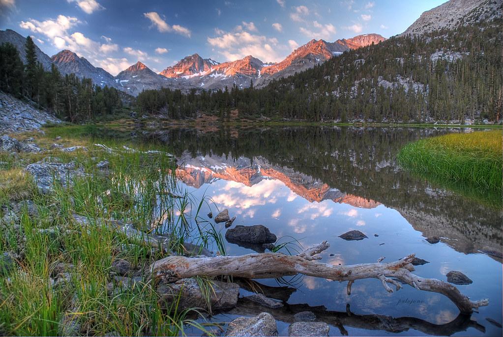 sunrise at heart lake rock creek california btw press flickr