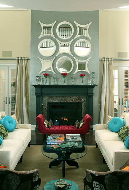 Living Room with Modern Regency Style | Working with the ...