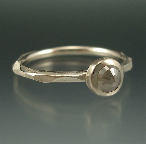 """Chiseled 5"" Rose Cut Diamond Ring (RAD #12) 