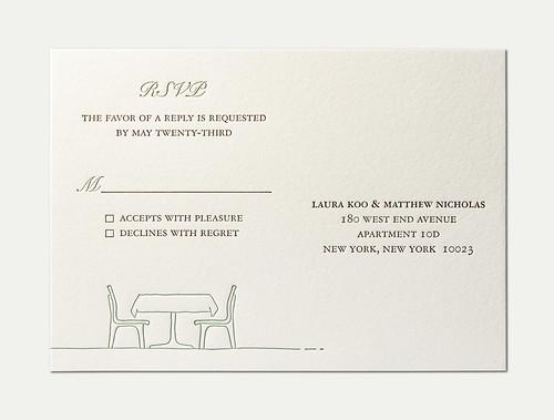 L&M Wedding RSVP Card   Letterpress Wedding Invitation Outer…   Flickr