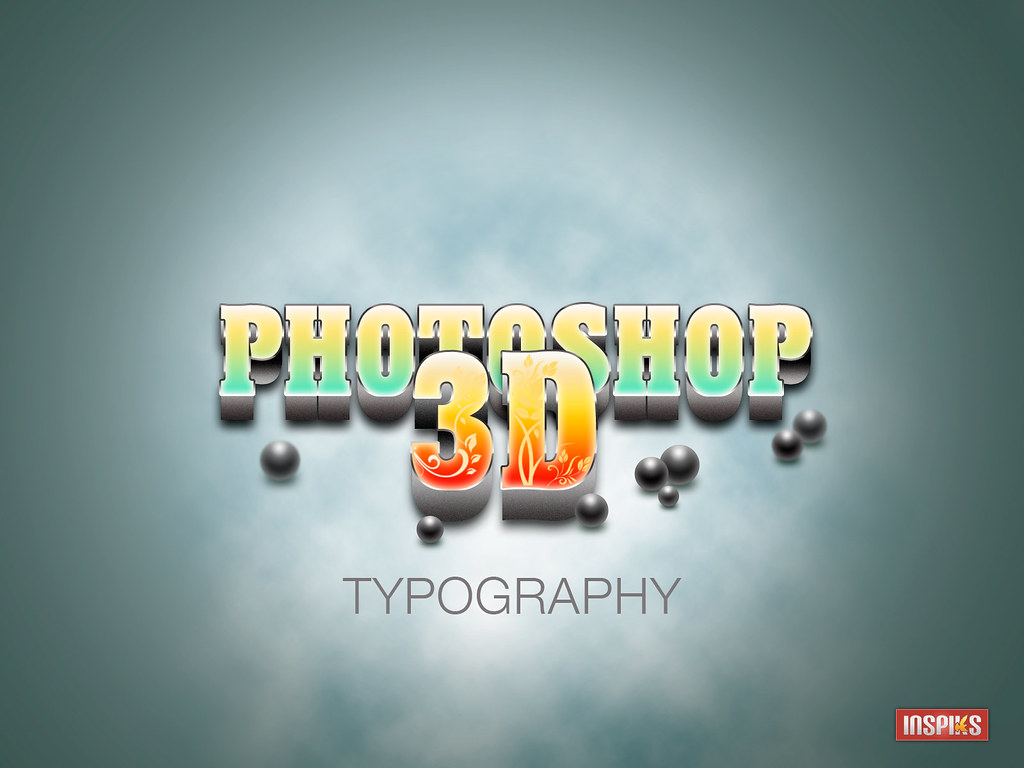 How to Create A Realistic 3D Typography in Photoshop-Tutor