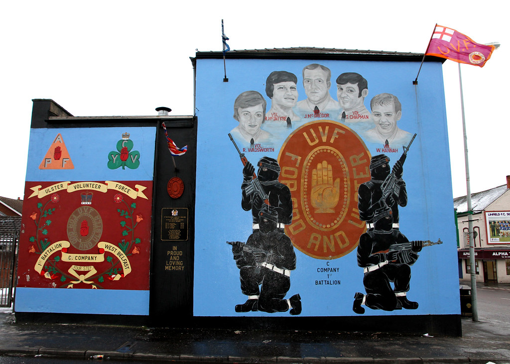 Jan 10 Typical Protestant Mural Off The Shankill Road U
