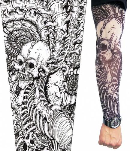 Skeleton Sleeves Arm Band A Skeleton Tattoo Sleeve Rocks Flickr