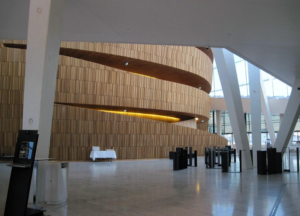 Oslo Opera House Interior The Entrance Hall Inside A