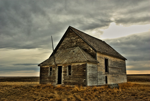 Abandoned school house in the middle of nowhere saskatchew flickr - The house in the abandoned school ...