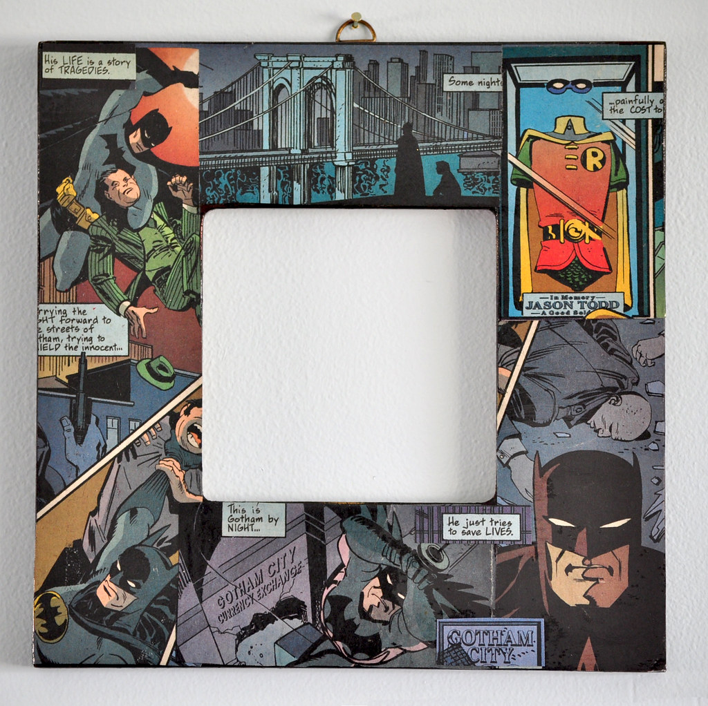 Batman - Decoupaged Picture Frame   Decoupaged from real rec…   Flickr