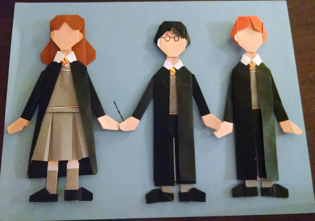 The Potter Gang Based On Yamaguchis Origami Dress Up Doll Flickr
