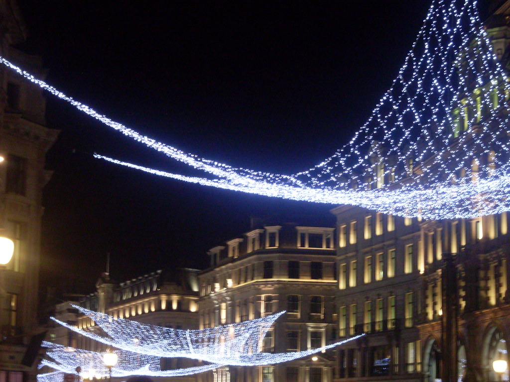 christmas light nets over oxford st by slothstalk
