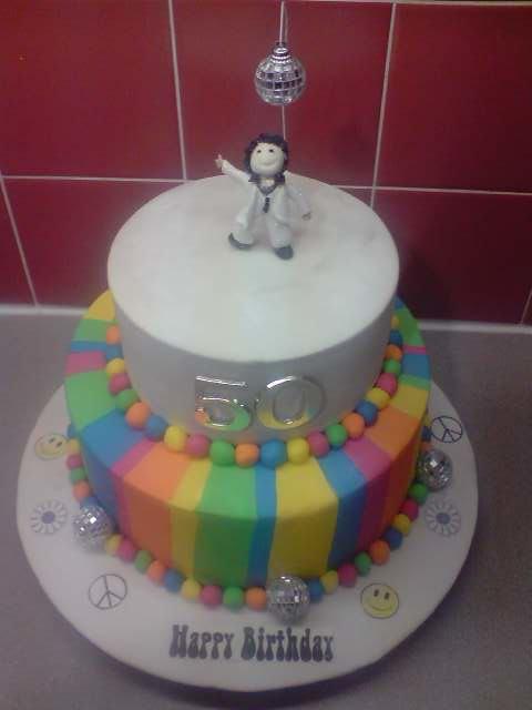 Disco Themed 50th Birthday Cake