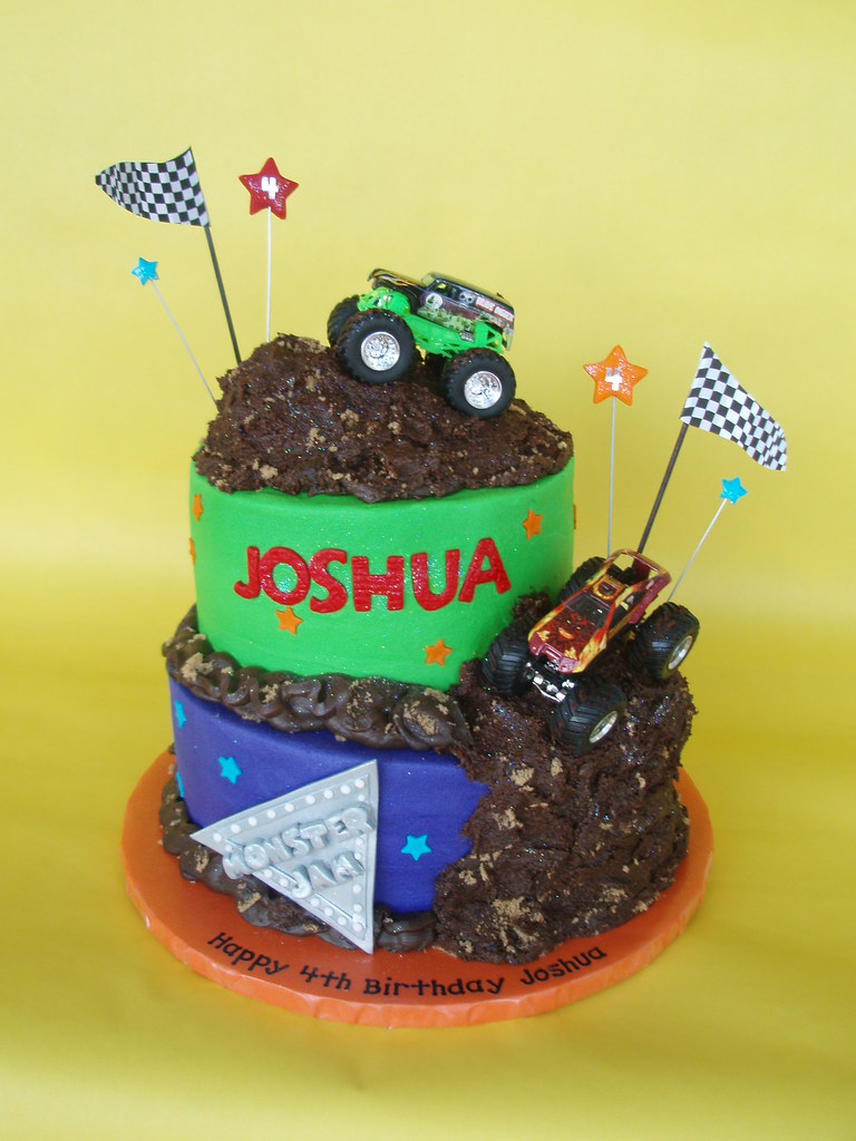 monster truck cake truck jam birthday cake four year joshua 6009