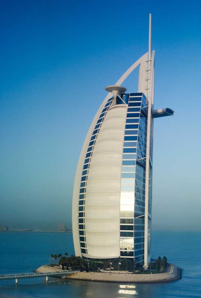 Burj al arab view from my hotel room at the jumeirah for 4 star hotels in dubai