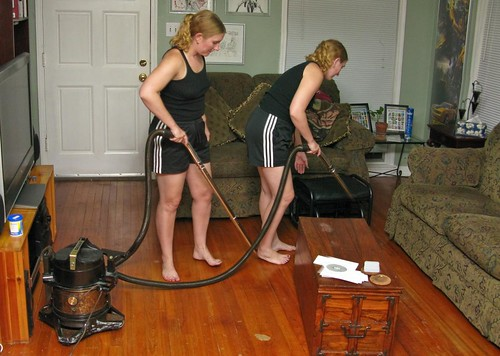 Cleaning the house in nylons is so much more fun - 3 part 5