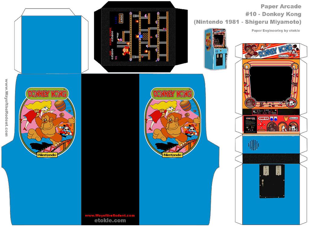 paper arcade donkey kong hires original model by