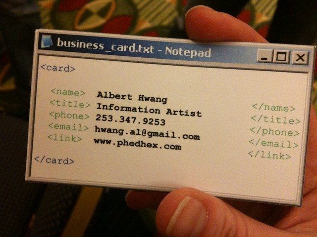 Albert hwangs business card this is my new favorite busin flickr albert hwangs business card by caseorganic colourmoves