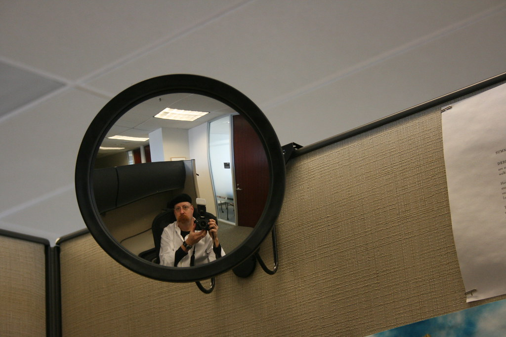 Cubicle Rear View Mirror