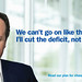"Poster - ""Cut the deficit, not the NHS"""