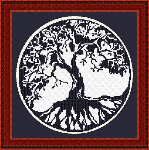 Blackwork Tree Of Life Cross Stitch Pattern Download This Flickr Stunning Tree Of Life Pattern