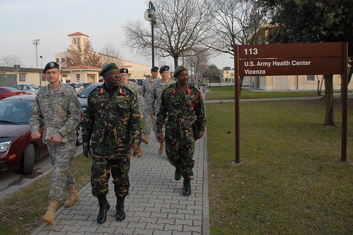 Maj. Gen. Kisamba of Tanzania visit U.S. Army Africa headquarters at Caserma Ederle, Italy, 20100127 | by US Army Africa