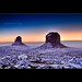 Sunrise at Monument Valley - The Mittens - Arizona