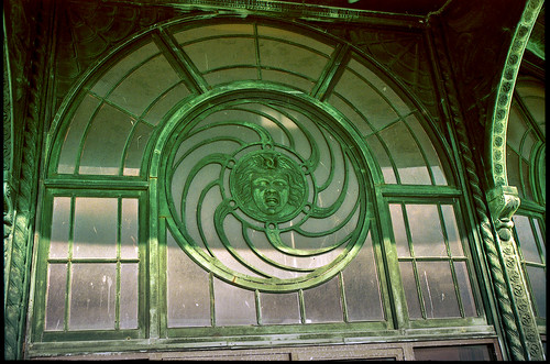 Medusa window detail, Casino Carousel Building, Asbury Park | by dicegirlsnapz