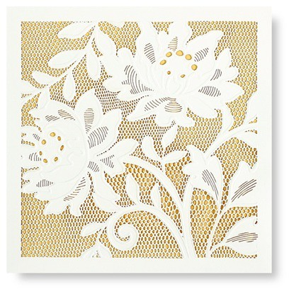 Vera Wang Alencon Lace Wedding Invitation Folder Laser Cut Flickr