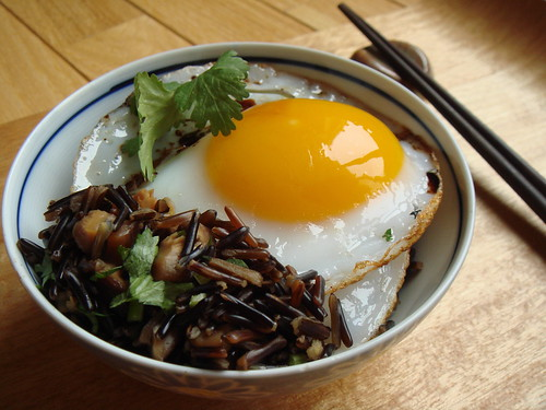 Duck Eggs Over Wild Rice | by ComeUndone