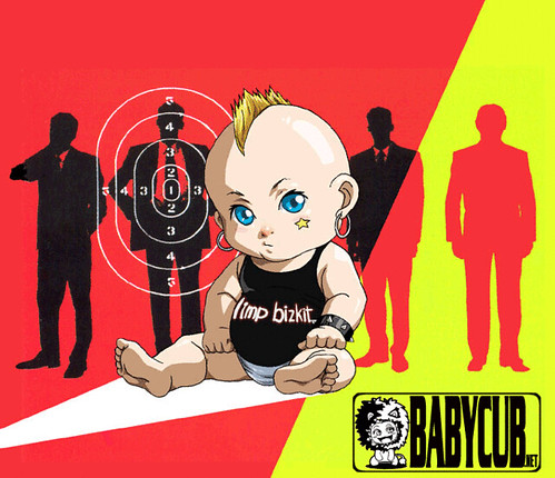 cool baby punk cartoon