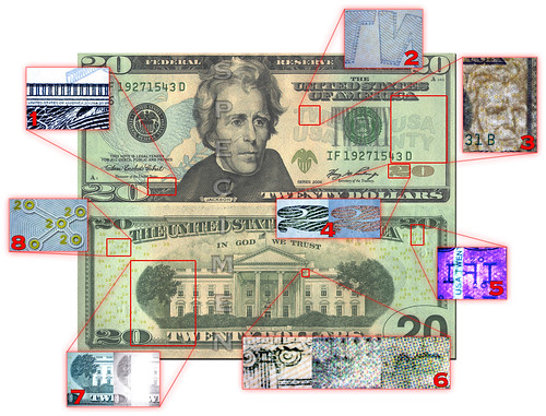 Security Features Of The Us Twenty Dollar Bill Due To