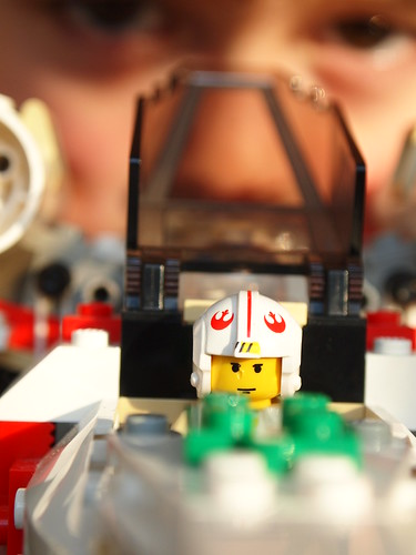 Lego x-wing and boy | by Kirstin Mckee