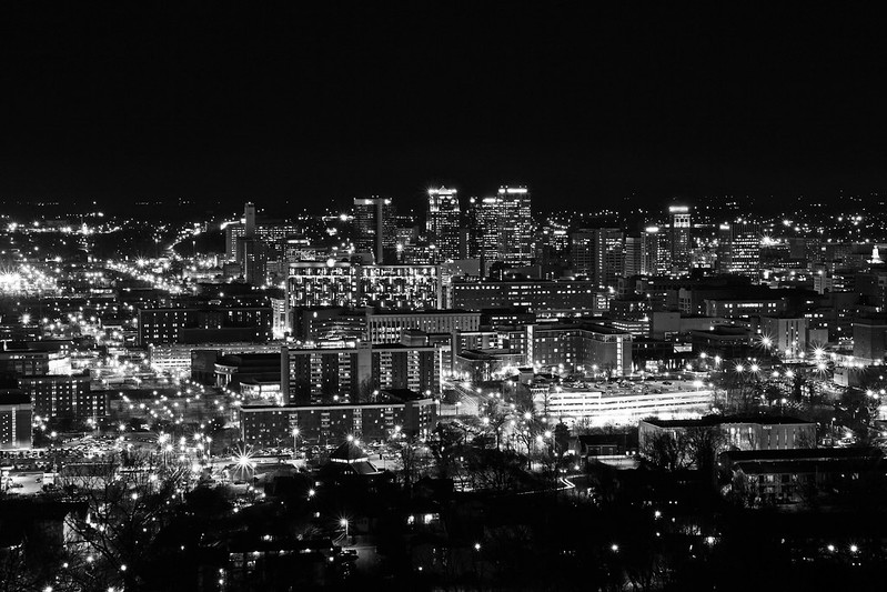 Birmingham from The Club - BW