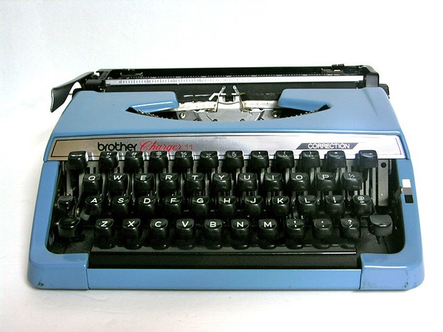 Vintage Brother Charger 11 Portable Typewriter In Light Bl