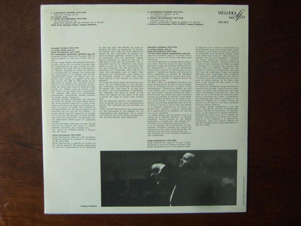 Backside Scriabin Poeme De Lextase Op54 Lev Volodin