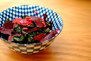 beet salad with oranges and beet greens | by sassyradish