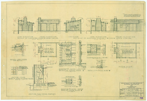 Fort Parker State Park - Plans and Details of Cabins - SP.44_159 | by Texas State Archives