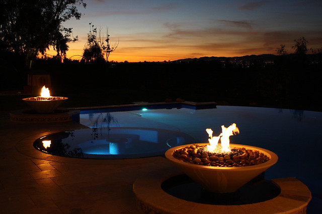 Fire bowls and swimming pool flickr photo sharing for Pool fire bowls