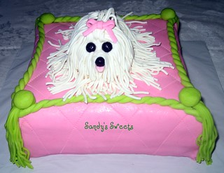 Maltese Puppy Cake | by Sandy's Sweets