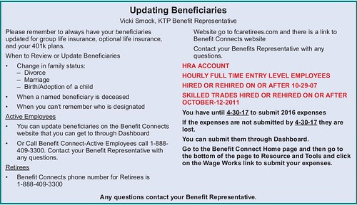 Benefits Update 2017