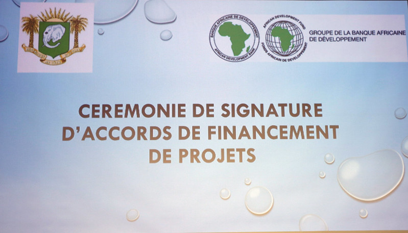 Signature des accords de financement entre l'Etat de Côte d'Ivoire et la BAD (2PAI BELIER-PDC ID ET ENABLE YOUTH), 14 Février 2017