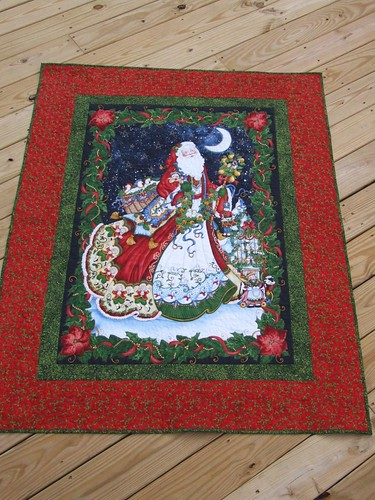 santa quilted throw | by sushikat