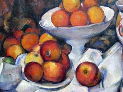 Musée d Orsay Paul Cézanne pommes et oranges détail