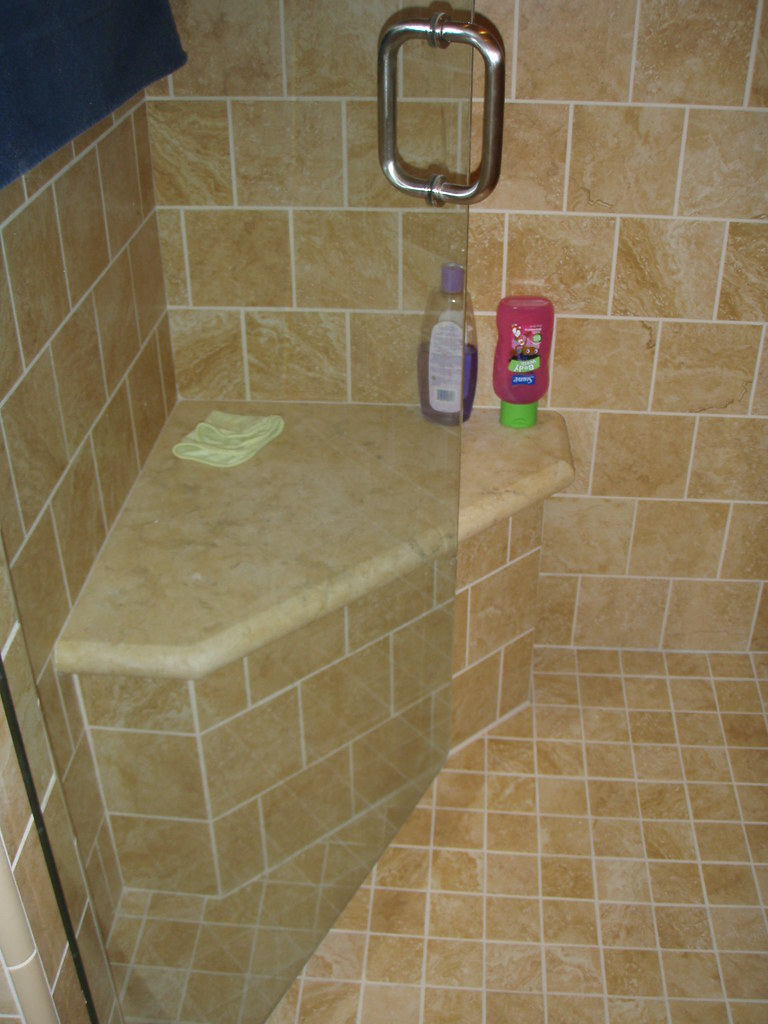 how to build a walk in shower with seat