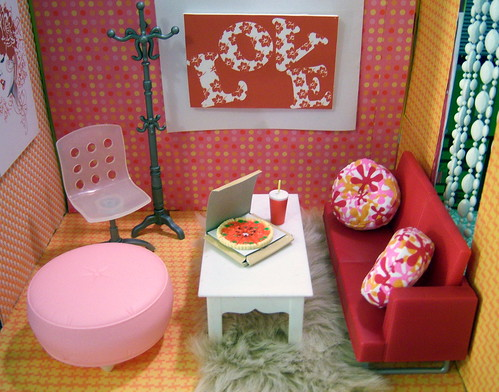 Cozy little room~red couch | by partydolly