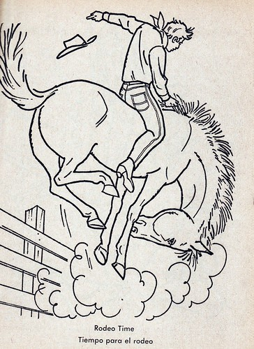 bronc rider coloring pages - photo#34