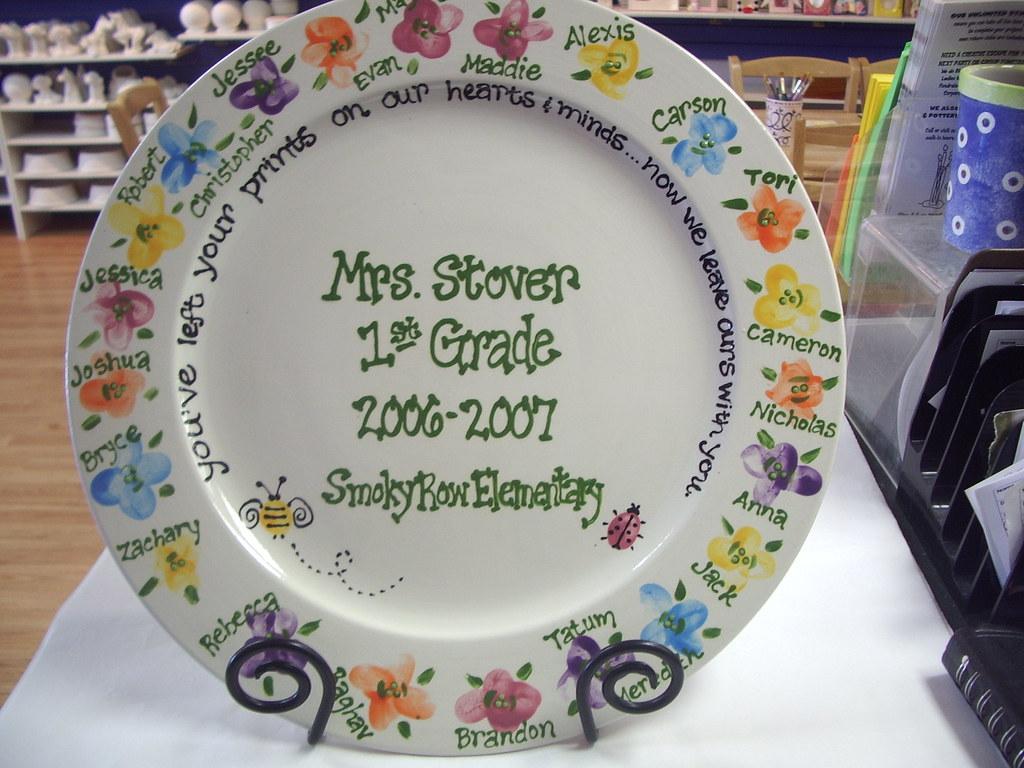 Baby Gift Ideas For Teachers From Students : Teacher gift fingerprint flowers creative escape flickr