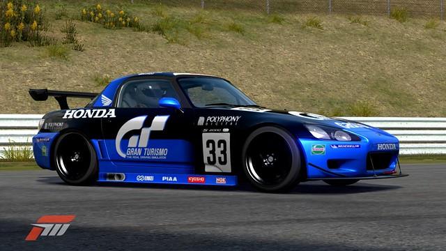 Gran Turismo Honda S2000 LM Race Car. Blue