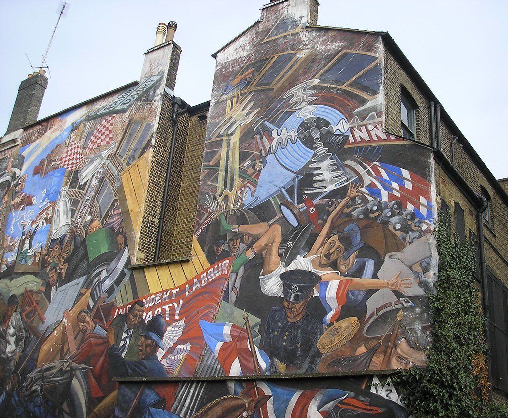 Battle of cable street mural tower hamlets london flickr for Cable street mural