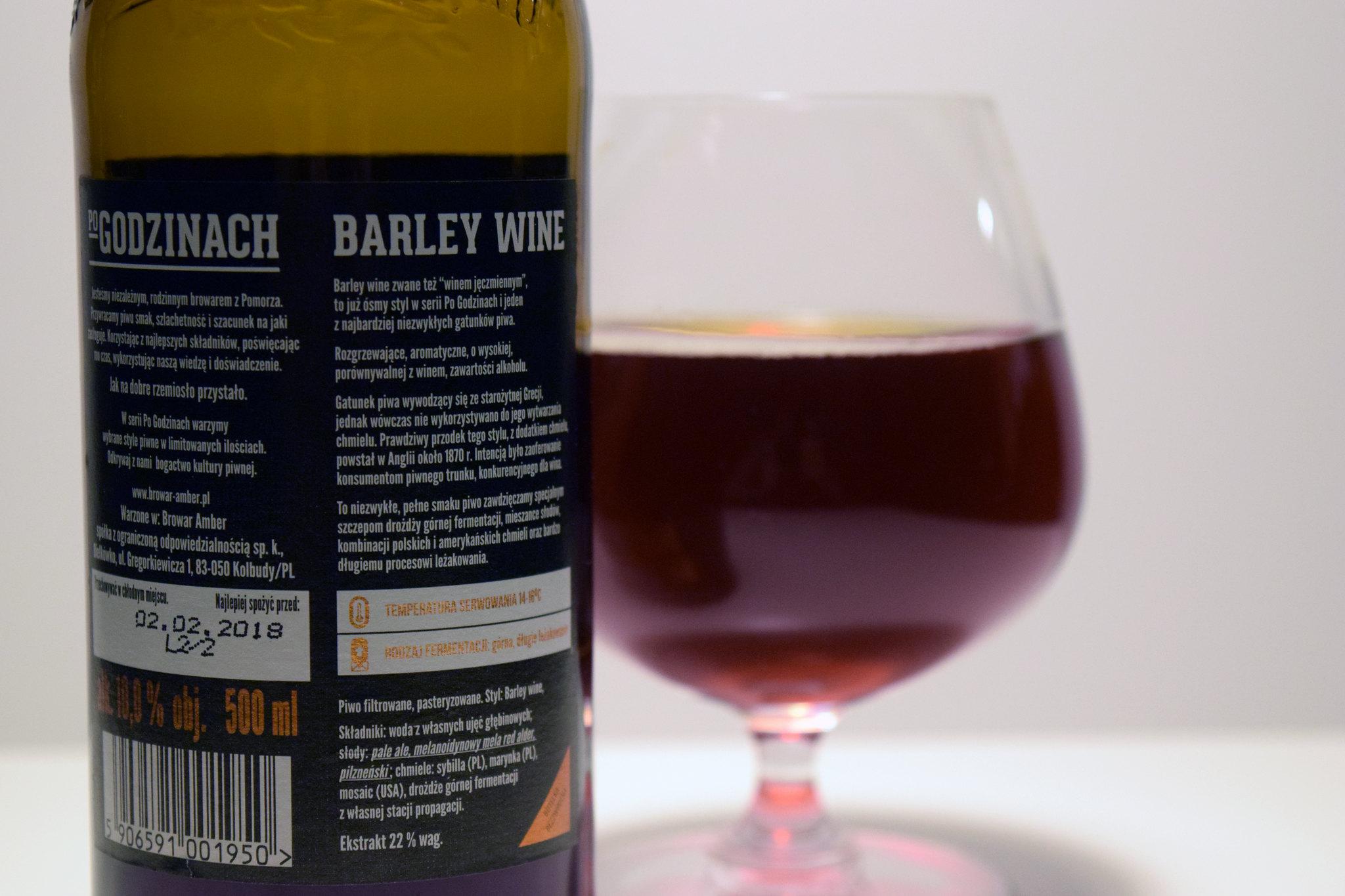 po godzinach barley wine etykieta