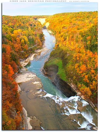 Upper Falls - Letchworth Park in Autumn Fall Waterfall | by :: Igor Borisenko Photography ::